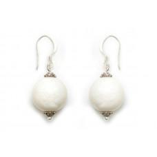 Σκουλαρίκια - Κοράλι λευκό